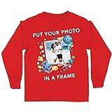 lepni.me Camiseta para Niños Los Recuerdos de Las Vacaciones Verano Personalizados Enmarcan la Foto de Sus Vacaciones Aquí (3-4 Years Rojo Multicolor)