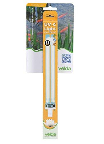 Velda 126623 vervangende UV-C lamp voor elektronische verwijderaar tegen groene algen in de vijver, UV-C PL lamp 13 Watt
