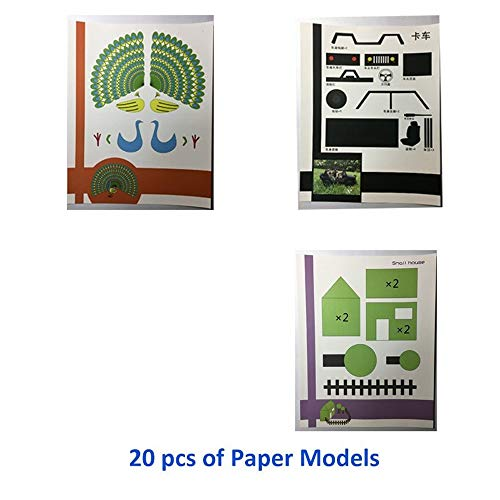 ZHQHYQHHX 3D Pen Printer 3D-tekening van het gekrabbel Printing Potlood Met Kleurrijke PLA gloeidraad For Kids DIY Children Gifts 3D Printer ZHQEUR (Color : 20 Templates, Size : Free)