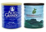 Alto Grande Super Premium Ground Coffee, and Yaucono Selecto Limited Edition Artisan Ground Coffee, 8.8 Ounce Canisters, Puerto Rico Variety Bundle