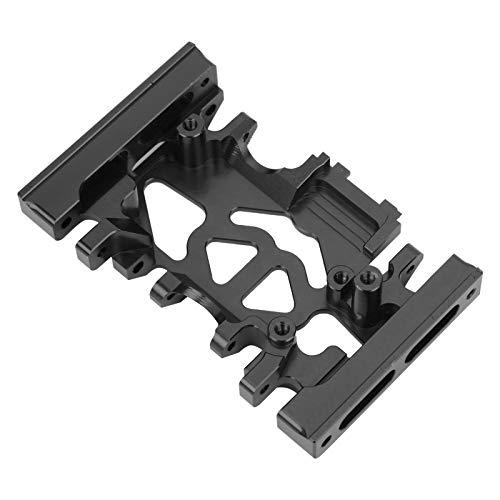 Soportes De Montaje De Caja De Engranajes De Aleación De Aluminio, Material De Metal Soportes De Montaje De Caja De Engranajes RC 3.7 X 2.1 X 0.9In con Tornillos para TRX4(Negro)