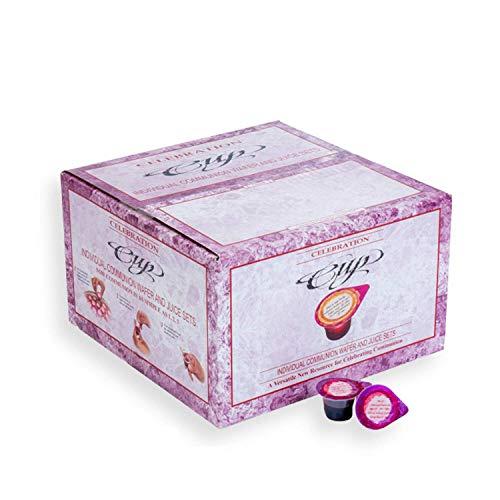 Celebration Cup - Prefilled Communion Cups & Wafer Set - Hygienic Communion Set (Pack of 100)