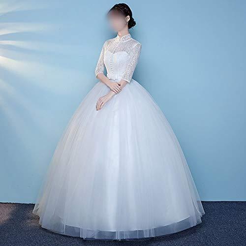 Rocke Mode einfache Show dünne Kragen chinesische Hochzeitskleid Hochzeitskleid (Design : 1, Size : L)