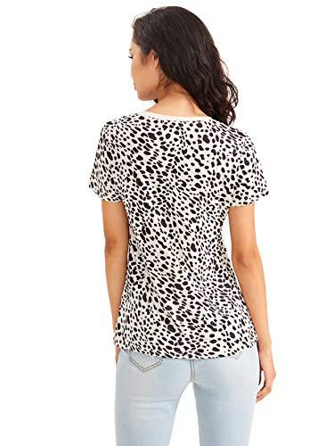 SweatyRocks-Womens-Leopard-Print-Short-Sleeve-Round-Neck-Casual-T-Shirt-Tops