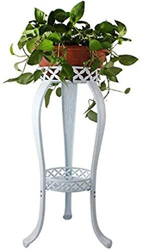 Bloempot houder van metaal, decoratieve houder voor bloempot, roestvrij, met houders voor bloempotten, ijzer, voor binnen buiten, containers van staal, voor de tuin, houder in hoek A + (kleur: A) B