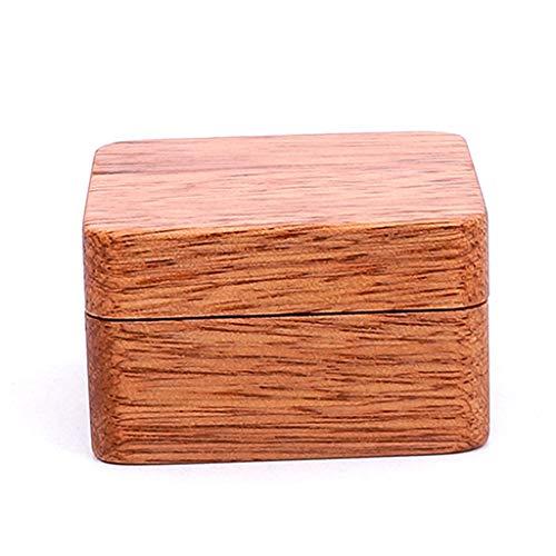 Generic Hochwertige Männer Anzug Holz Manschettenknopf Geschenkbox Holz Schmuck Andenken Aufbewahrungsbox B
