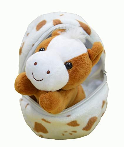 Kögler- Lotti, Mini Pony Huevo, Aprox. 13 cm de Alto, pequeño Peluche para abrazar y amar, Regalo niños, Color carbón (75766)