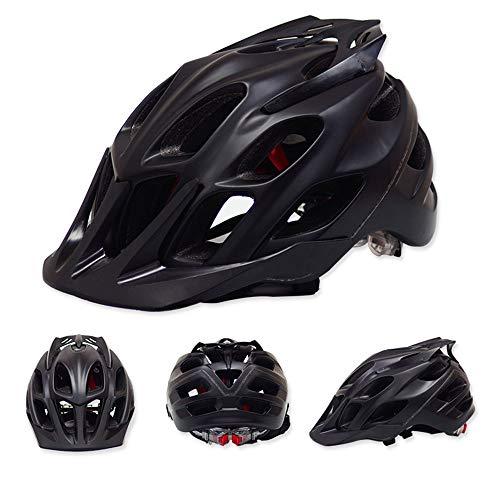 Stella Fella Cascos para hombre y mujer transpirable Casco de montar a caballo de montaña Casco de bicicleta Casco de ciclismo de montaña (Color: Negro)