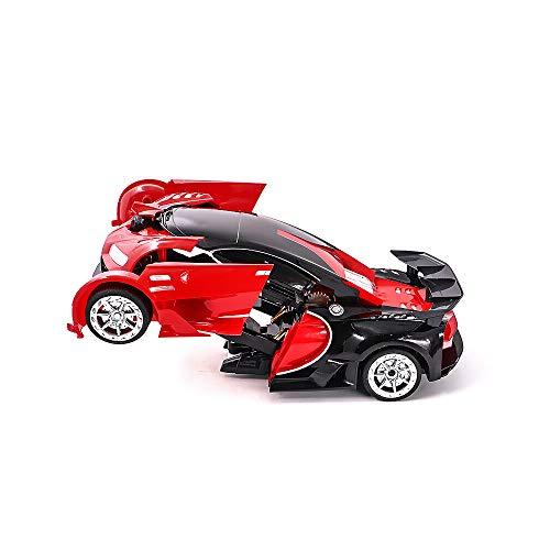 Kikioo 1:12 Control remoto recargable Inducción de automóviles Turning Robot Vehículo de juguete eléctrico con deformación de un solo botón 360 ° Drifting Stunt Transformando Robot Toy Toy Regalo para