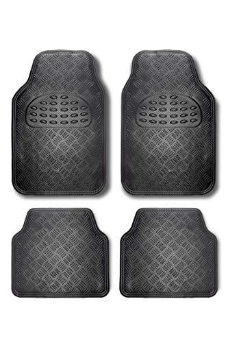 BC Corona ALF10130 Alfombra de Goma Aluminio, Carbón
