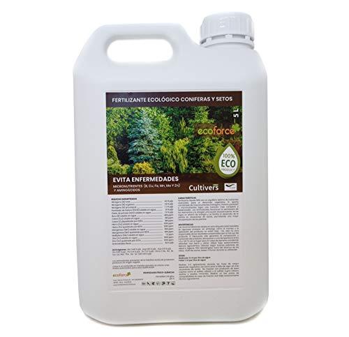 CULTIVERS Fertilizante Líquido para Coníferas y Setos Ecológico de 5 L. Abono...