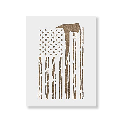 American Flag Distressed Stencil Template for Walls and Crafts Reusable Stencils for Painting in Small /& Large Sizes
