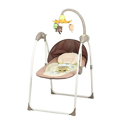 WCJ Baby Rocking Chair, Swing en voorzitter van Electric Cradle kinderstoel, Baby New Born Baby Swing Chair, Eight Gear Swing, eenvoudig opbergen en installatie, achtste versnelling swing