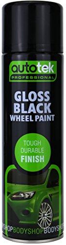 Autotek ATOOGBW500 Wheel Spray Paint, Gloss Black, 500 ml