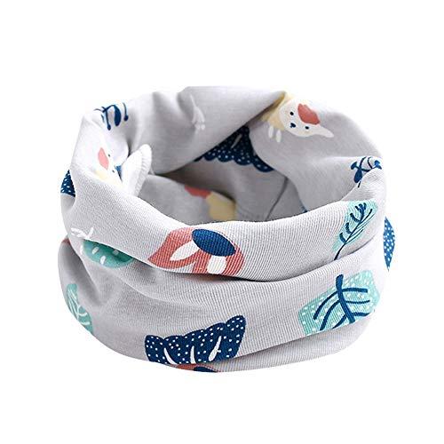 Huhu833 Baby Kid Mädchen Jungen Schal Tier Muster Nähen O-Ring Baby Schal Halswärmer (U)