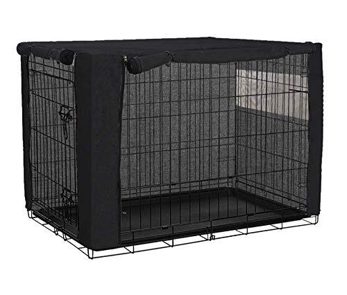 QCWN Abdeckung für Hundeboxen und Hundehütten, für Drahtkäfige, aus Polyester, für den Innen- und Außenbereich, langlebig und winddicht