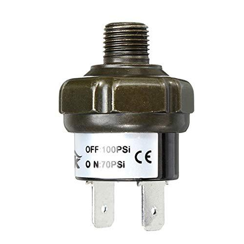 Qclj0410 Nuevas válvulas Interruptor de aire Control de presión de control de presión Válvula de interruptor que amenaza el deber 70 90 100 120 150 180 psi Piezas de repuesto ( Color : 70 100Psi )