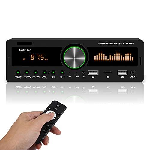 Lirgad Autoestéreos Reproductor estéreo para auto MP3 con FM / USB / AUX Multimedia Digital de MP3 para Coche de 12V Tarjeta de Radio...