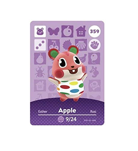No.359 Apple Animal Crossing Villager Cards Series 4. Third Party NFC Card. Water Resistant