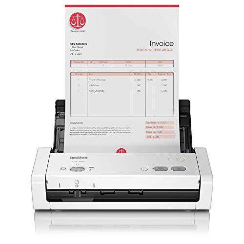 Brother ADS1200 Scanner Compatto Desktop, Portatile, Duplex Dual CIS, Velocità 25 ppm 50 ipm, Risoluzione 1.200 Dpi, Adf da 20 Fogli, Interfaccia USB, Driver Twain, WIA