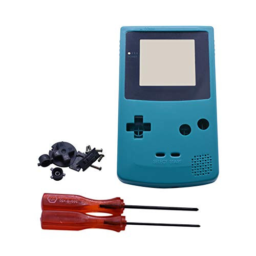 Xingsiyue Reemplazo Lleno Housing Cáscara Cubrir Caso Piezas de Reparación Set w/Lente&Destornillador para Nintendo Gameboy Color GBC Consola