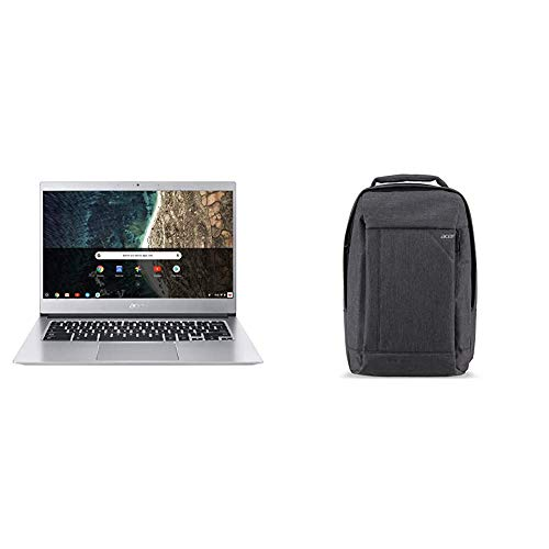 "Acer Chromebook 514, CB514-1H-C47X, Intel Celeron N3350, 14"" Full HD, 4GB LPDDR4, 32GB eMMC, Backlit Keyboard, Google Chrome & Acer Travel Laptop Backpack"