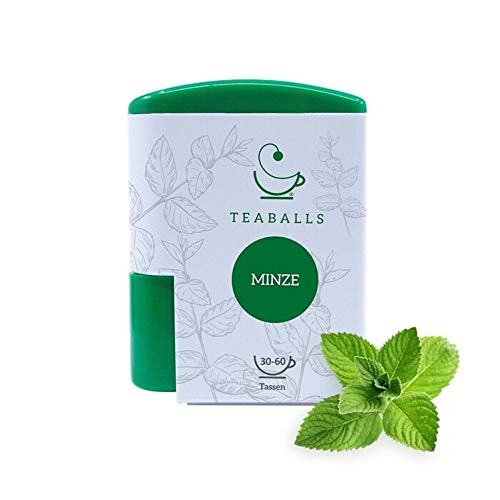 TEABALLS - Minze (1 x 6g)   120 Teaballs   für ca. 30-50 Tassen Tee   100% reines Pflanzenextrakt   Bekannt aus: DAS DING DES JAHRES