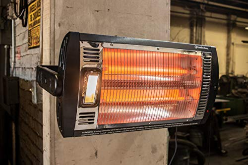 Ceiling Mounted Radiant Quartz Heater with Halogen Light Included