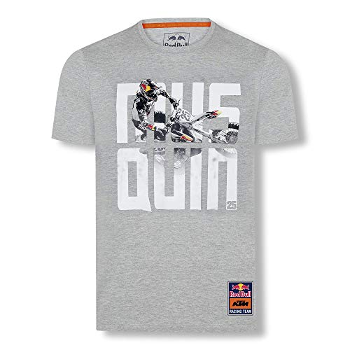 Red Bull KTM Marvin Musquin 25 T-Camisa, Gris Hombres Medium Camisa Manga...
