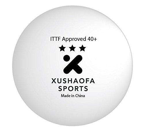 Pelotas de tenis de mesa Xushaofa/XSF 40+ sin costura 3 estrellas