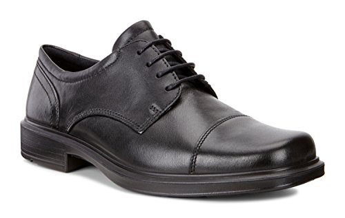 ECCO Men's Helsinki Cap-Toe Oxford Dress Shoe,Black,43 (US Men's 9-9.5) M