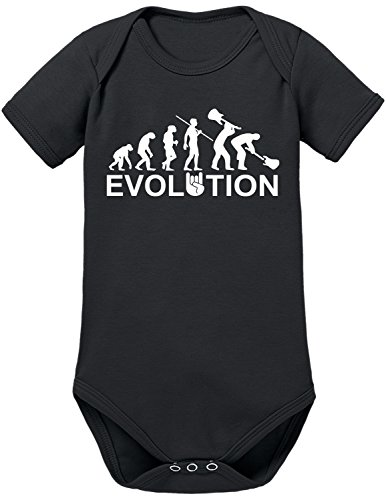 TShirt-People Evolution Heavy Metal Trash - Body para bebé Negro 74