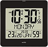 Large Jumbo LCD Radio Controlled ( UK & Ireland Version/Premium Quality/Clear Display) Silent Wall & Desk Clock , Helpful for DEMENTIA & ALZHEIMER SUFFERERS