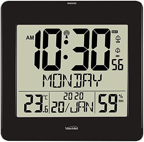 Große Jumbo-LCD-Funkuhr (UK & Irland...