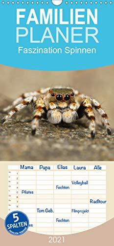 Faszination Spinnen - Familienplaner hoch (Wandkalender 2021, 21 cm x 45 cm, hoch)