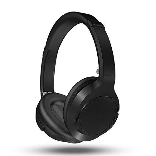 Auriculares Bluetooth Diadema, Kenuo Cascos Bluetooth Inalambricos Plegable con Micrófono, Hi-Fi Sonido Estéreo, Ligero, Manos Libres, PC, Móviles