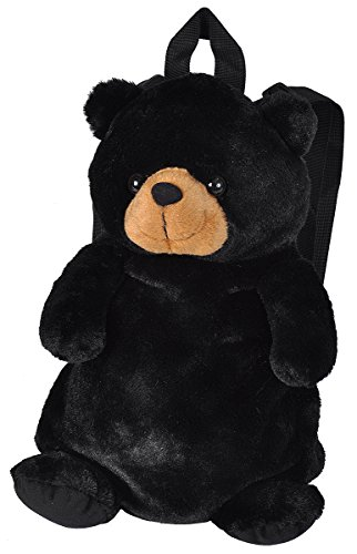 Wild Republic Backpack, Nursery Backpack, Plush Backpack, Black Bear School Backpack for Kids, Gifts for Kids, Plush Toy Bag, 36 cm