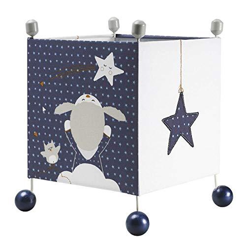 Lampe de chevet cube Merlin - Sauthon