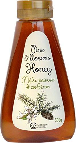 Pinien und Blüten Honig von Rhodos 500 Gramm PET-Drückflasche