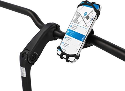 FISCHER Fahrrad Scooter Handyhalterung, Smartphonehalterung, Universal Handyhalter, 360° drehbar, für 3,5 - 6,5 Zoll Smartphones