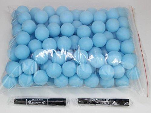 COFACE 150pcs Scrub balles de ping pong balle balle de ping pong de loterie Bleu