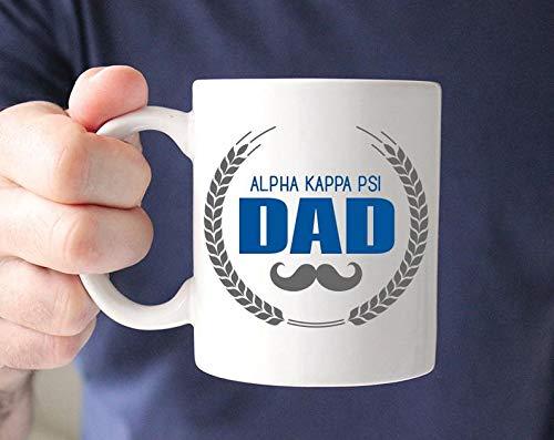 AKPsi Alpha Kappa Psi Dad Stache Mug Sorority Coffee Mug