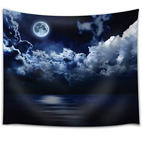 Teppich Afrika Deko Square Beach Handtuch Landschaft Digitaldruck Tapisserie Moon Cloud Tapisserie Für Wohnzimmer Schlafzimmer Wohnheim Dekor Auch Als Yogamatte Picknickdecke 230X180Cm