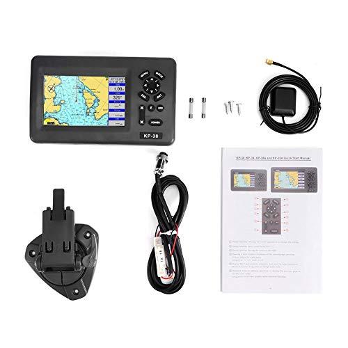 Navegador GPS marino impermeable con transpondedor AIS de clase B (KP38A) Plotter de carta náutica con pantalla LCD en color de 5 pulgadas