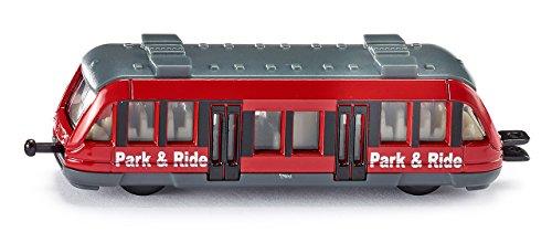 SIKU 1013, Nahverkehrszug, Metall/Kunststoff, Rot, Standard-siku-Eisenbahnkupplungen zum Verbinden mit anderen Zügen