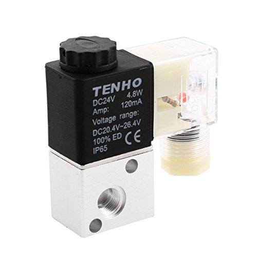 3V1-06 DC 24V 2 vías válvula solenoide neumática eléctrica a prueba de...