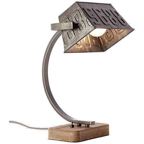 Tischleuchte, 1x E27 max. 40W, Metall/Holz, schwarz stahl