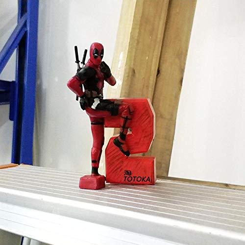 Deadpool handgemachte Modellpuppe Spielzeug Computer Fall Auto Dekoration Auto Dekoration Auto Puppe-Deadpool D.