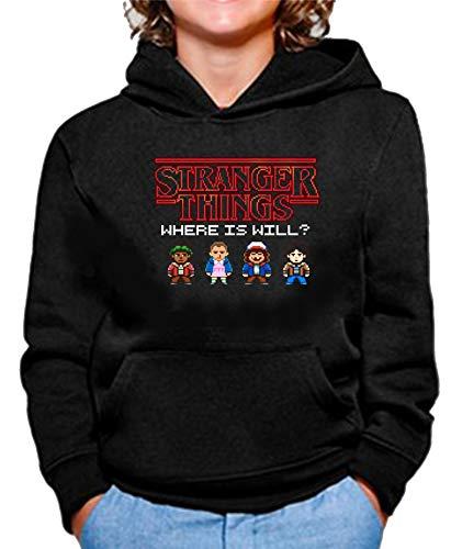Sudadera de NIÑOS Stranger Things Once Series Retro 80 Eleven Will 011 9-11 años