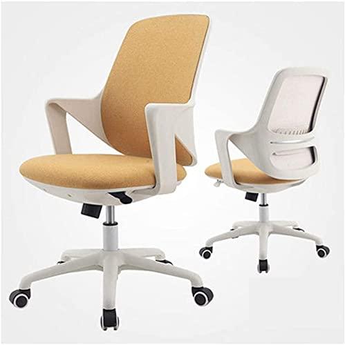TAIDENG Silla de oficina, silla de escritorio, silla de ordenador, tela moderna, respaldo bajo, silla de oficina con altura ajustable, para recepción, comedor, sala de conferencias, (color: B)